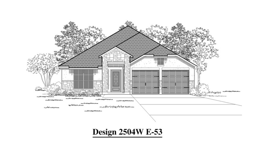 Canyon Falls Perry Homes Design 2504w Elevation E-53