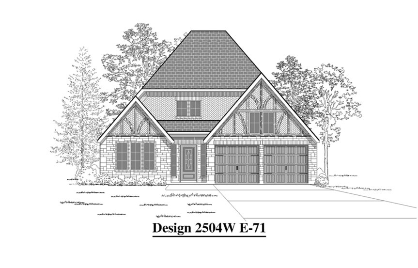 Canyon Falls Perry Homes Design 2504w Elevation E-71