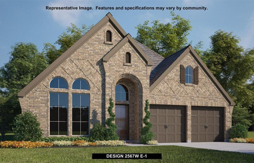 Canyon Falls Perry Homes Design 2567w Elevation E-1