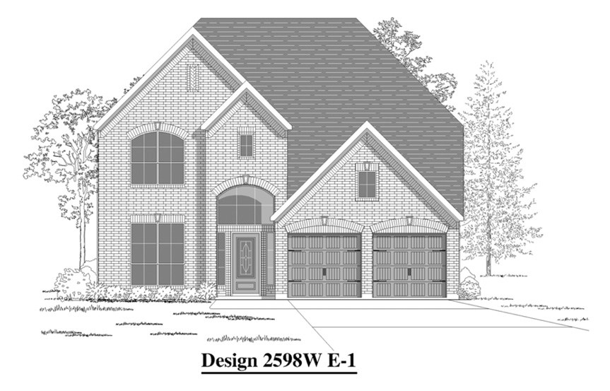 Canyon Falls Perry Homes Design 2598w Elevation E-1