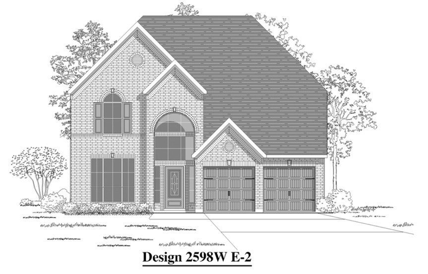 Canyon Falls Perry Homes Design 2598w Elevation E-2