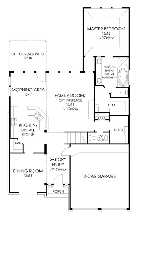 Canyon Falls Perry Homes Design 2598w Floor Plan