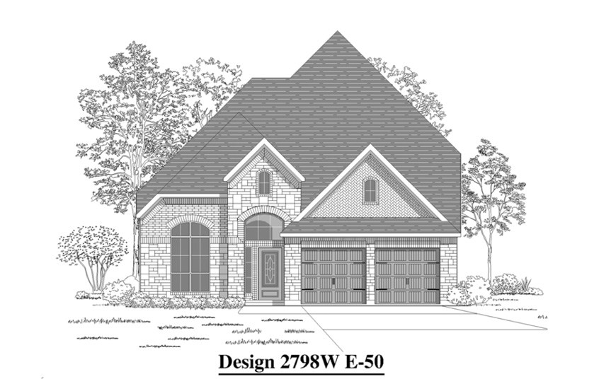 Canyon Falls Perry Homes Design 2798w Elevation E-50