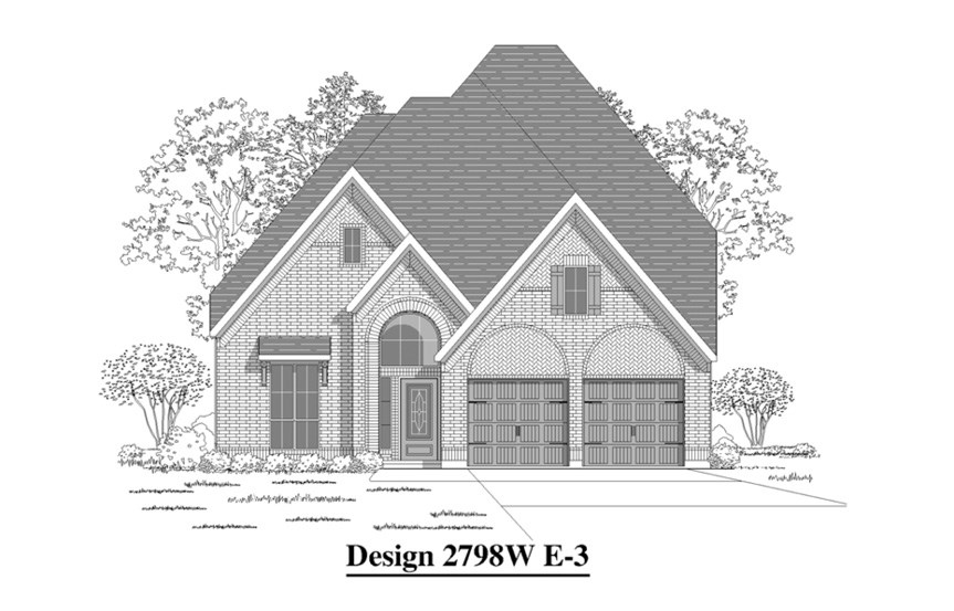 Canyon Falls Perry Homes Design 2798w Elevation E-3