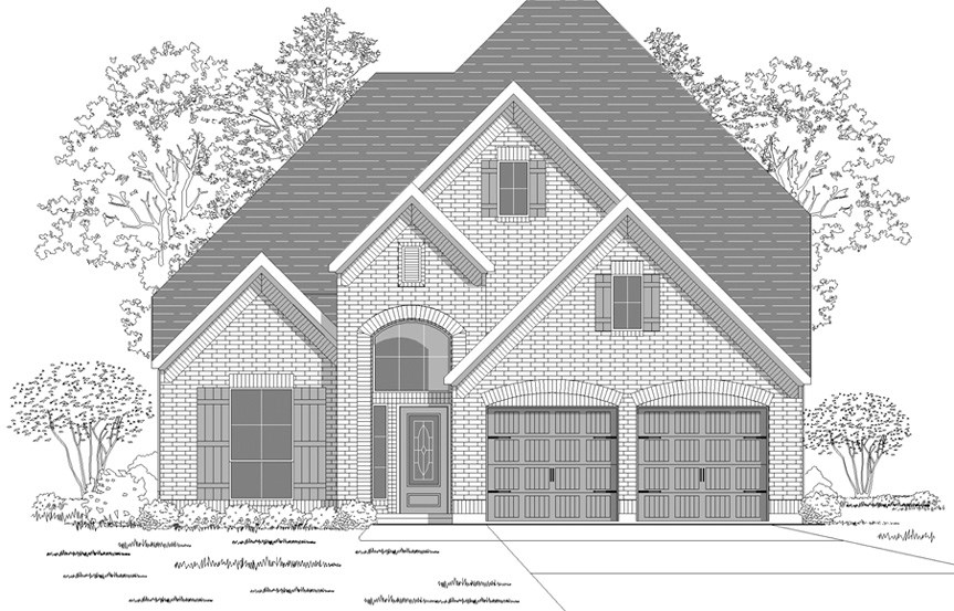 Canyon Falls Perry Homes Design 2798w Elevation