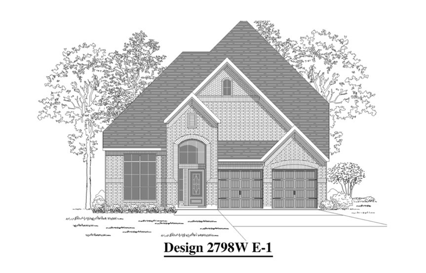 Canyon Falls Perry Homes Design 2798w Elevation E-1