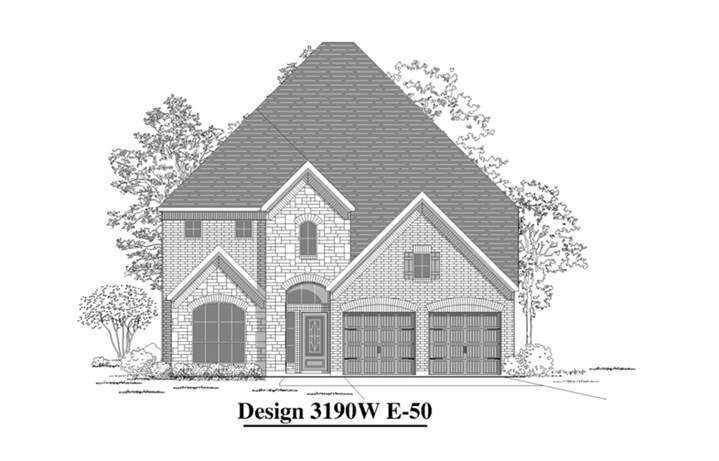 Canyon Falls Perry Homes Design 3190w Elevation E-50