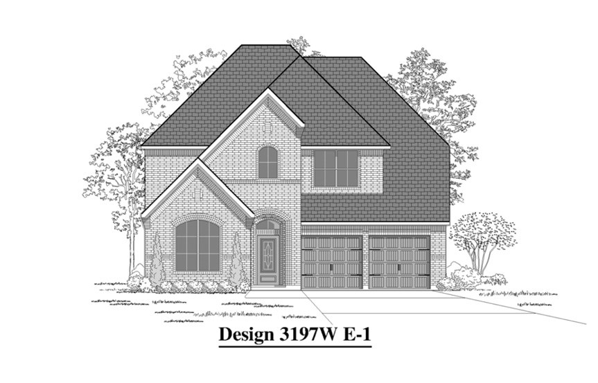 Canyon Falls Perry Homes Design 3197w Elevation E-1