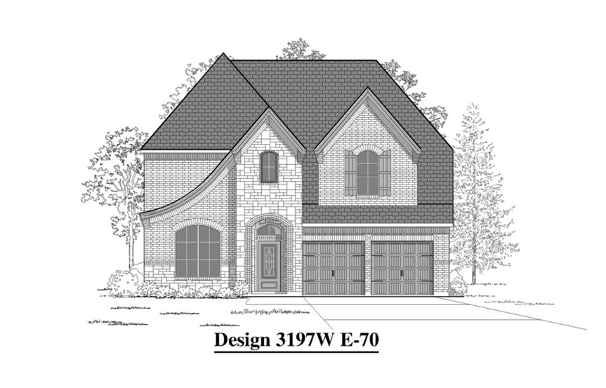 Canyon Falls Perry Homes Design 3197w Elevation E-70