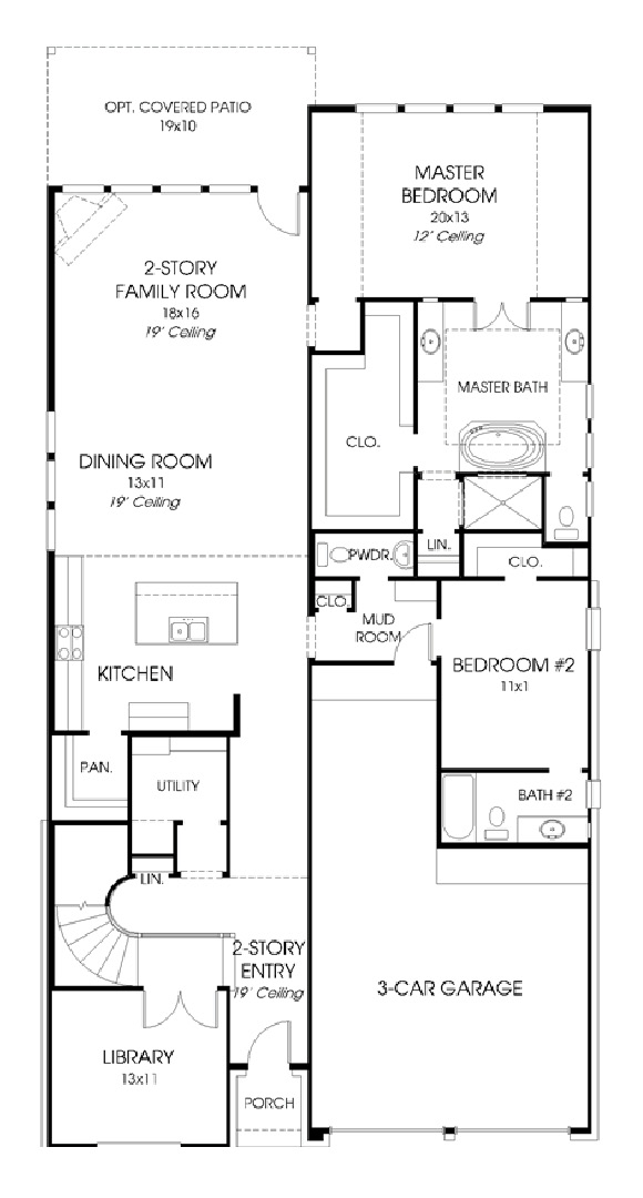 Canyon Falls Perry Homes Design 3197w Floor Plan