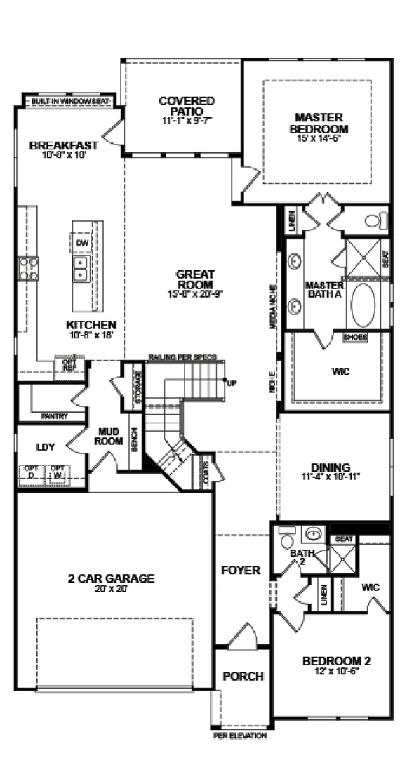 Canyon Falls Beazer Homes Summerfield Floor Plan