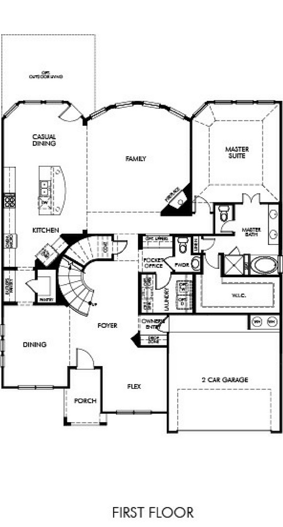 Canyon Falls Meritage Homes Berkeley Floor Plan