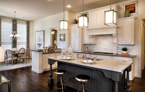 Highland Homes Model Kitchen in Canyon Falls