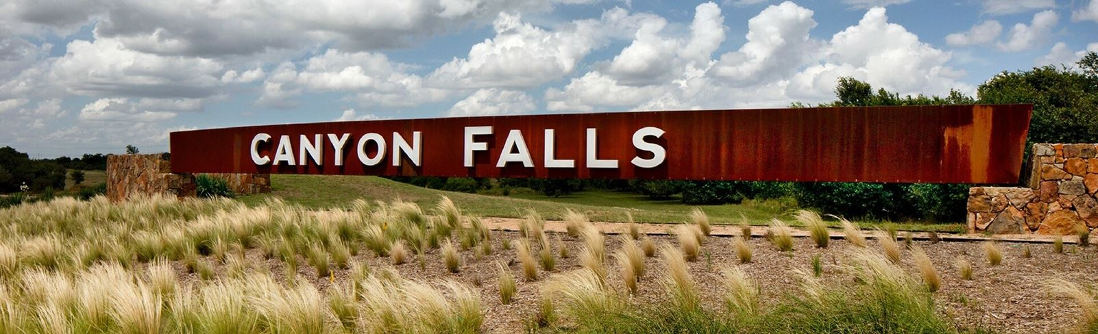 Canyon Falls Entrance - Northlake, TX