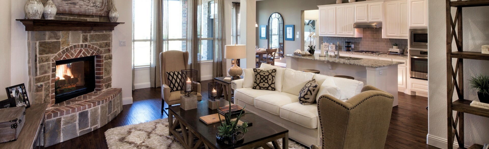 Highland Homes Living Room In Canyon Falls