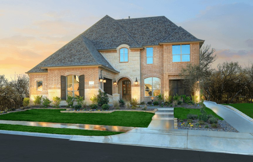 Drees Homes Plan Ravenna Elevation in Canyon Falls