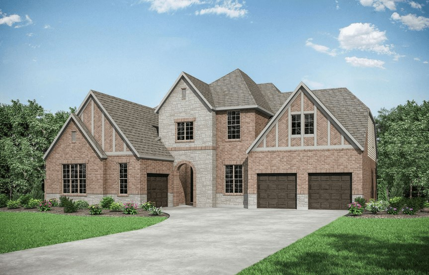 Drees Homes Plan Grantley Elevation B in Canyon Falls