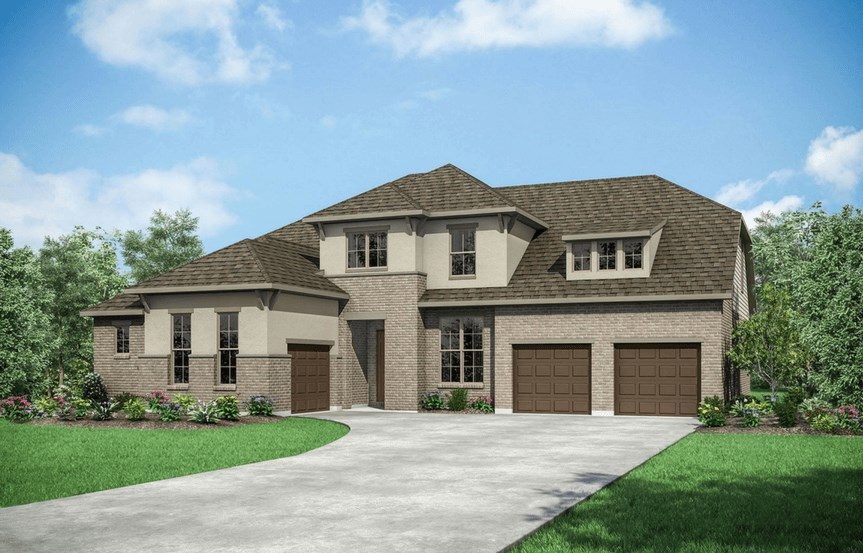Drees Homes Plan Grantley Elevation C in Canyon Falls