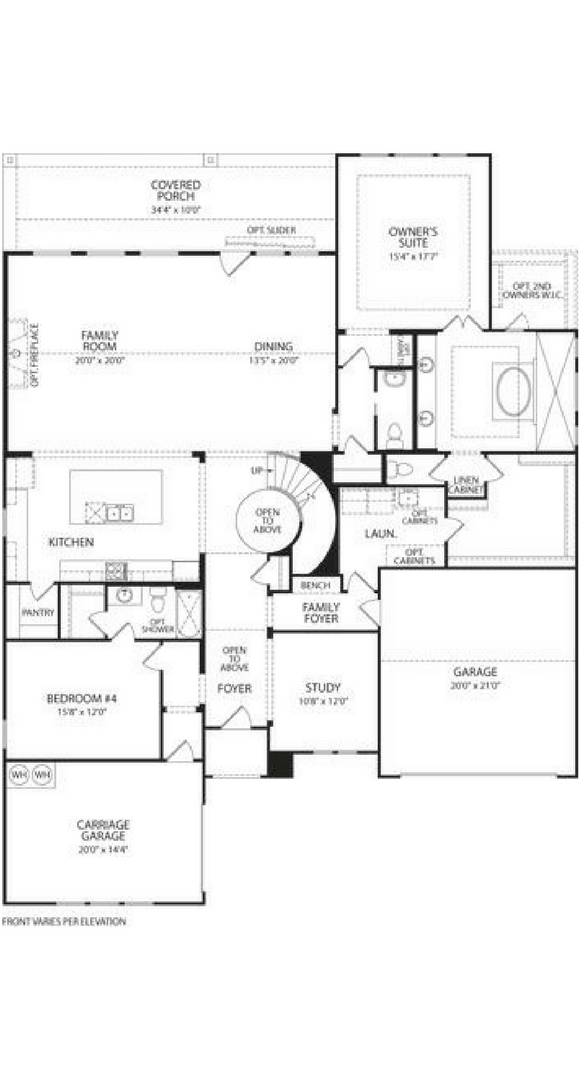 Drees Homes Grantley Floorplan in Canyon Falls