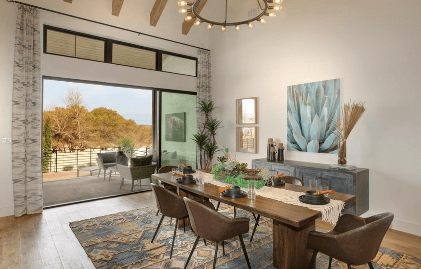 Drees Homes Plan Grantley Dining Room in Canyon Falls