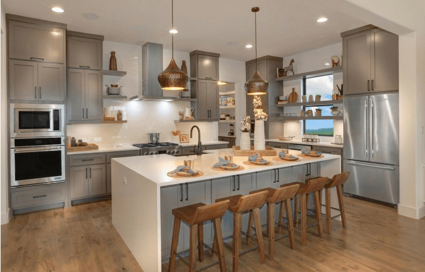 Drees Homes Plan Grantley Kitchen in Canyon Falls