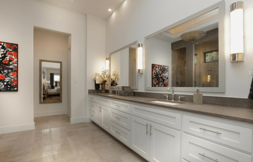 Drees Homes Plan Grantley Owner's Bath in Canyon Falls