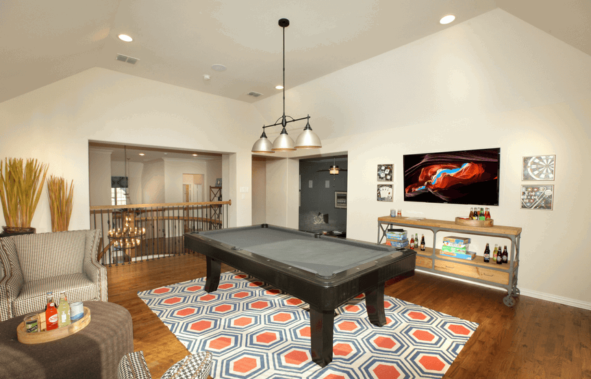 Drees Homes Plan Ravenna Gameroom in Canyon Falls
