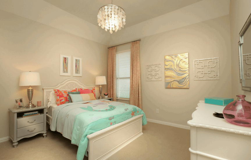 Drees Homes Plan Ravenna Bedroom in Canyon Falls