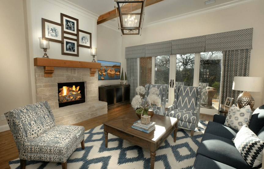 Drees Homes Plan Ravenna Living Suite in Canyon Falls