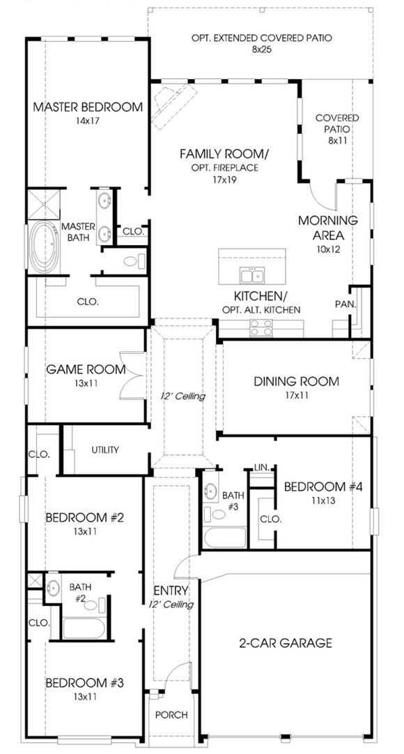 Perry Home 2438W Floorplan in Canyon Falls