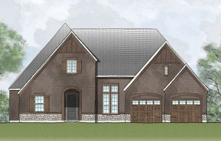 Drees Homes Plan Tinsley Elevation B in Canyon Falls