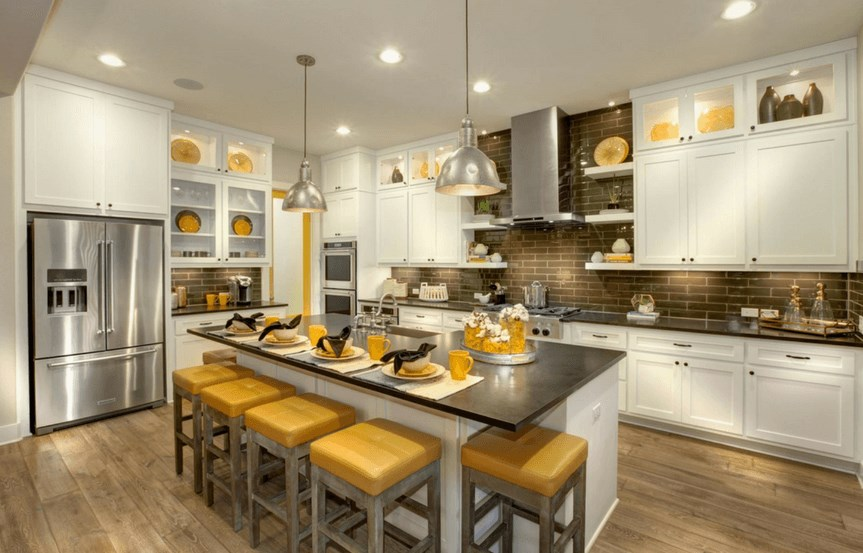 Drees Homes Plan Tinsley Kitchen in Canyon Falls