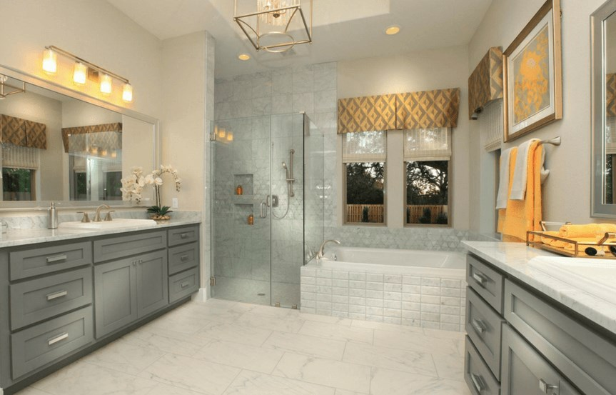 Drees Homes Plan Tinsley Owner's Bath in Canyon Falls