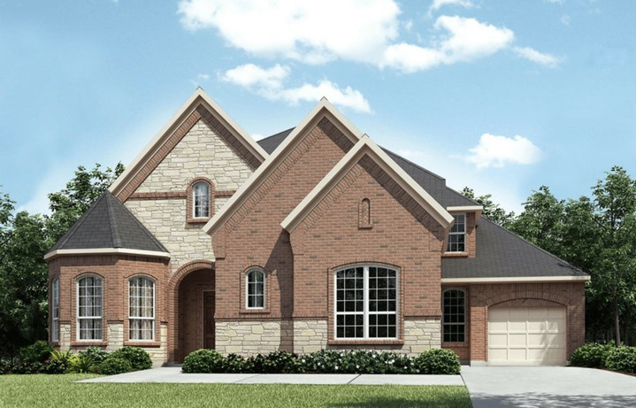 Drees Homes Plan Sacromento Elevation B in Canyon Falls