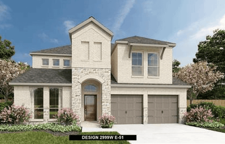 Perry Homes Plan 2999W Elevation in Canyon Falls