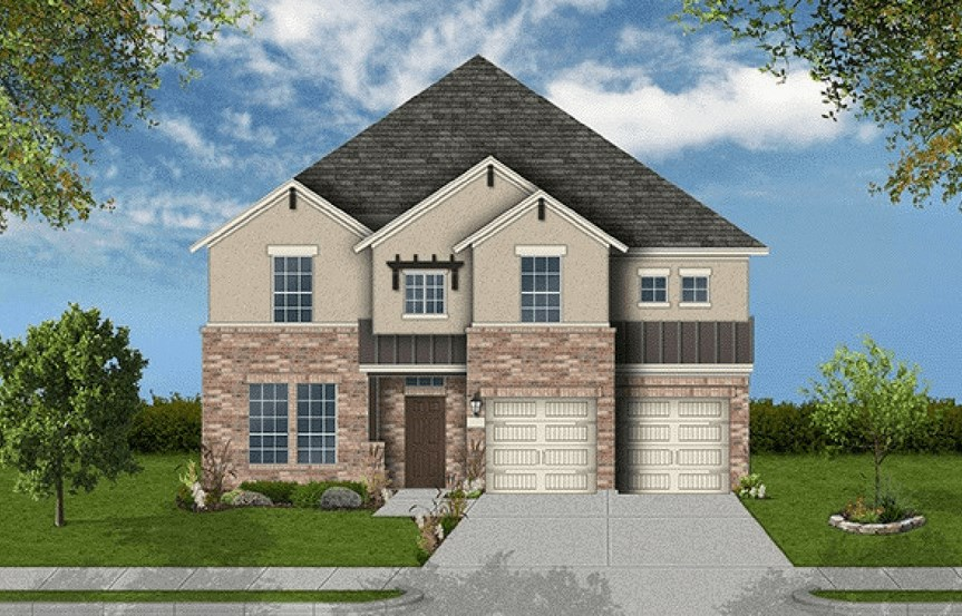 Coventry Homes Plan 3391 Elevation in Canyon Falls