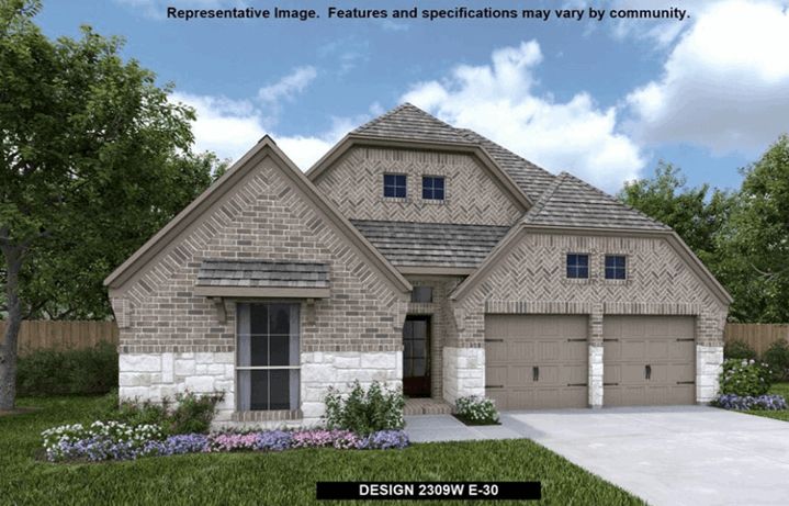 Perry Homes Plan 2309 Elevation 30 in Canyon Falls