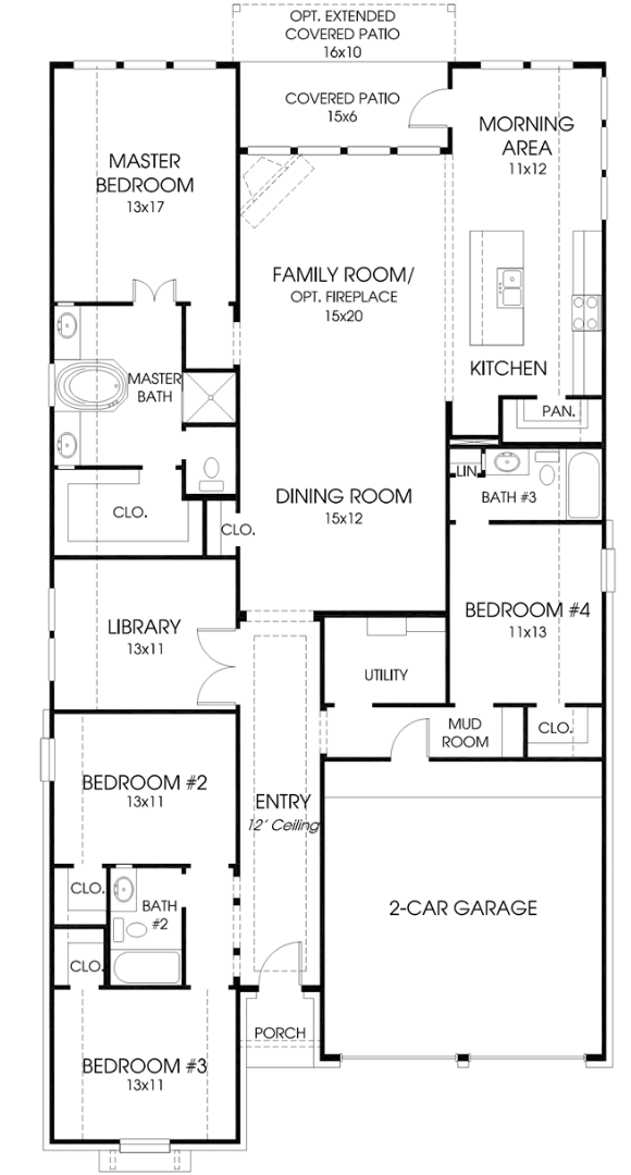 Perry Homes 2309 floorplan in Canyon Falls