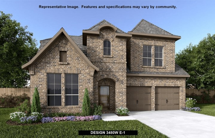 Perry Homes Plan 3480 Elevation 1 in Canyon Falls