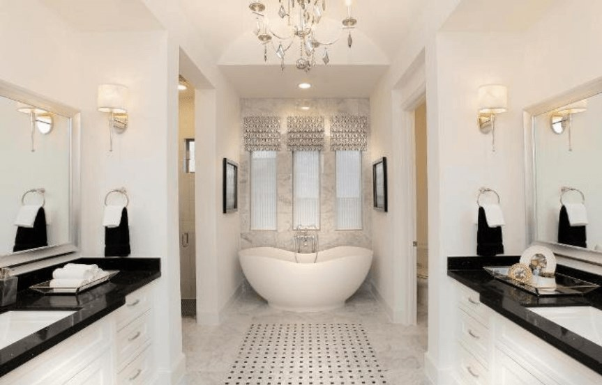 Drees Homes Plan Elmsdale Master Bath Room in Canyon Falls