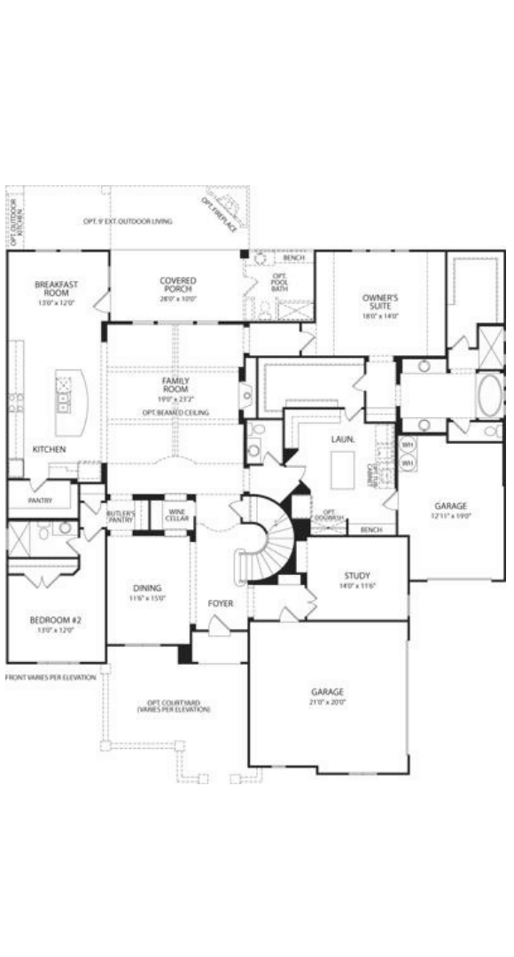 Drees Homes Plan Elmsdale FLoor Plan 1 in Canyon Falls