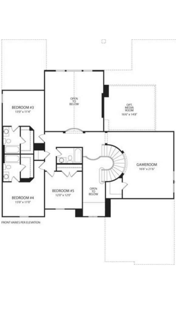 Drees Homes Plan Elmsdale Floor Plan 2 in Canyon Falls