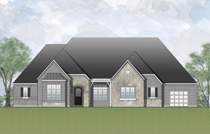 Drees Homes Plan Marley Elevation A in Canyon Falls