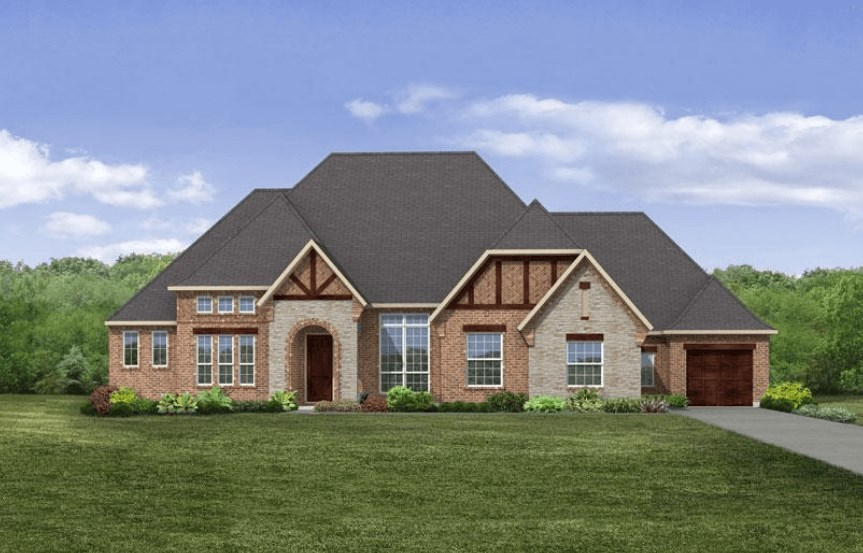 Drees Homes Plan Marley Elevation B in Canyon Falls