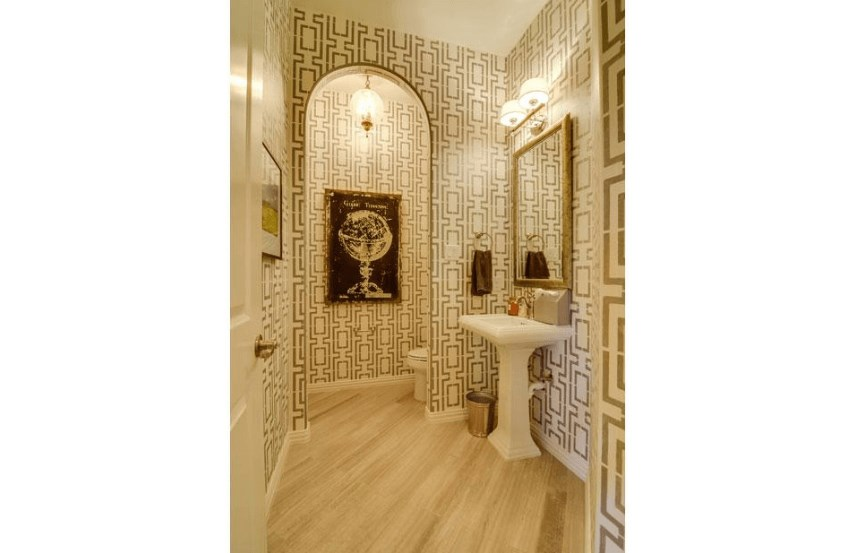 Drees Homes Plan Marley Powder Room in Canyon Falls