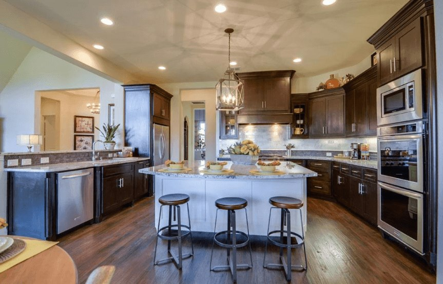 Drees Homes Plan Marley Kitchen in Canyon Falls