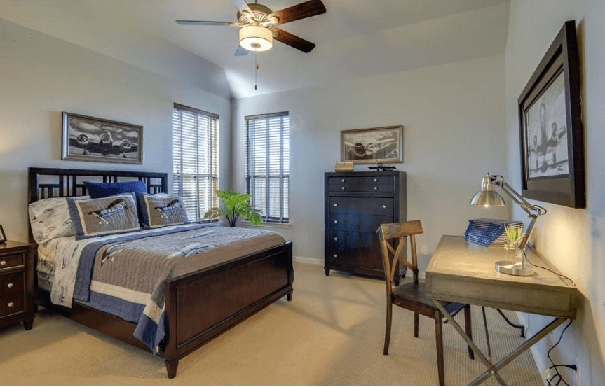 Drees Homes Plan Marley Bedroom 2 in Canyon Falls