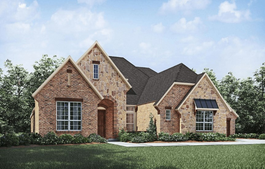 Drees Homes Plan Lauren ll Elevation A in Canyon Falls