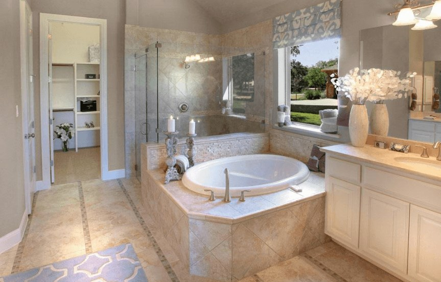 Drees Homes Plan Lauren II Owner's Bathroom in Canyon Falls