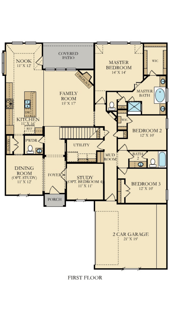 Canyon Falls Village Builders McKinley Floorplan 1
